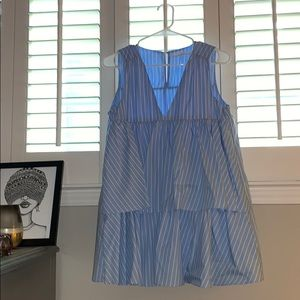 Blue and white striped Zara dress